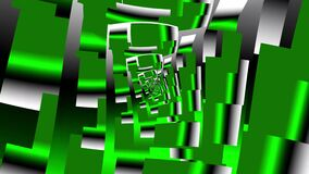 Immersion in a fractal of rectangles of gray-green shades