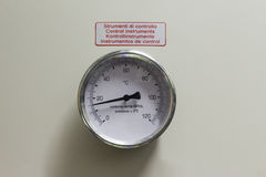 Immersion thermometer Stock Images
