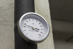 Immersion thermometer Stock Photo
