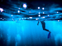 Immersione con bombole della Grande barriera corallina Immagini Stock