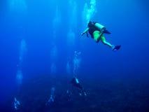 Immersione con bombole in mare caraibico Fotografie Stock Libere da Diritti