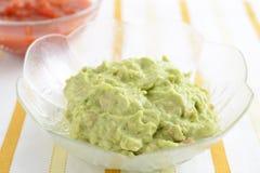 Immersione dell'avocado con la salsa della salsa Fotografia Stock