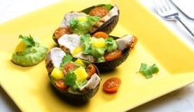 Immersione dell'insalata e dell'avocado di pollo Immagine Stock Libera da Diritti