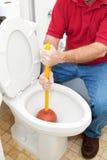 Immersione della toilette fotografia stock