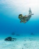 Immersione nell'oceano Immagini Stock Libere da Diritti