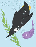 Immersione subacquea del mare profondo Immagini Stock