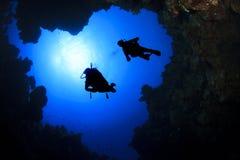 Immersione subacquea del mare profondo Fotografia Stock Libera da Diritti