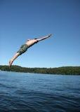 Immersione subacquea dell'uomo Immagini Stock