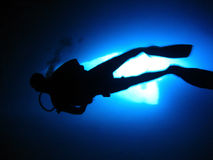 Immersione subacquea della caverna Fotografie Stock