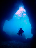 Immersione subacquea della caverna Fotografie Stock Libere da Diritti