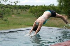 Immersione subacquea della ragazza Fotografie Stock Libere da Diritti