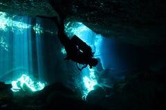 Immersione subacquea di Cenote Immagine Stock Libera da Diritti