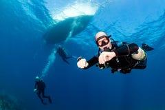 Immersione subacquea di Sidemount Immagini Stock Libere da Diritti