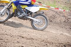 Immersione subacquea di sport del motociclo immagine stock