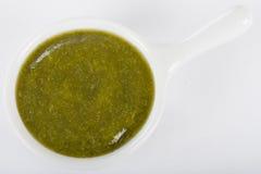 Immersione verde della salsa Fotografia Stock