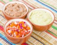 Immersioni del messicano & piatti laterali Immagini Stock