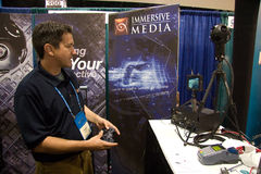 Immersive Media vendor at the ESRI conference. SAN DIEGO, JUNE 18: Immersive Media vendor at the ESRI international user conference which is held annually and is royalty free stock images