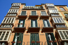Immeuble à Malaga Photo libre de droits