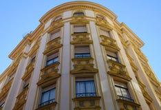 Immeuble à Malaga Photos libres de droits