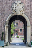 Immeuble de brique historique de Cambridge Angleterre Photographie stock