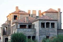 Immeuble de brique non fini Image libre de droits