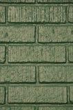 Immeuble de brique vert Photos libres de droits
