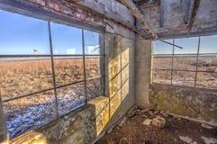 Immeuble de bureaux abandonné d'aéroport, le Kansas Image libre de droits