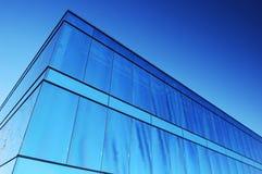 Immeuble de bureaux bleu Photo libre de droits