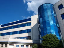 Immeuble de bureaux, Ceske Budejovice, République Tchèque photos stock