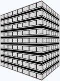 Immeuble de bureaux de rendu d'artiste Photographie stock libre de droits