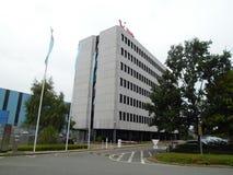 Immeuble de bureaux de TUIfly, Hannovre, aéroport, basse-saxe, Allemagne Photos libres de droits