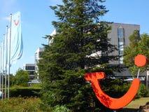 Immeuble de bureaux de TUIfly, Hannovre, aéroport, basse-saxe, Allemagne Images libres de droits