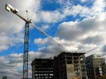 Immeuble de bureaux en construction Images stock