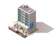 Immeuble de bureaux isométrique de vecteur Photographie stock libre de droits
