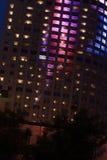 Immeuble de bureaux la nuit Photographie stock