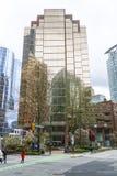 Immeuble de bureaux moderne à Vancouver - rue de 999 W Hastings - VANCOUVER - CANADA - 12 avril 2017 Images libres de droits