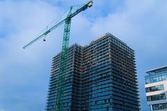 Immeuble de bureaux moderne en construction Photo libre de droits