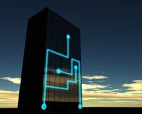 Immeuble de bureaux relié au réseau Illustration Stock