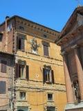 Immeuble traditionnel, Sienne, Italie Photographie stock libre de droits