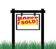 Immeubles à vendre le signe Images libres de droits