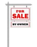 Immeubles à vendre le signe par le propriétaire Image libre de droits