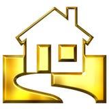 immeubles 3D d'or Images libres de droits