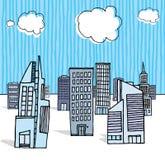 Immeubles de bureaux/district des affaires Illustration Libre de Droits