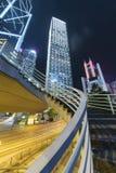 Immeubles de bureaux ayant beaucoup d'étages dans le secteur central de la ville de Hong Kong Photos libres de droits