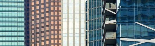 Immeubles de bureaux dans un secteur financier Image libre de droits