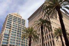 Immeubles de bureaux de corporation modernes image stock