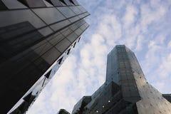 Immeubles de bureaux de ville Photographie stock