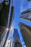 Immeubles de bureaux du centre ensoleillés à Seattle, Washington Photographie stock libre de droits