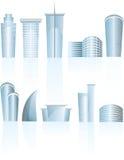 Immeubles de bureaux génériques architecturaux de ville Photos libres de droits