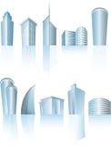 Immeubles de bureaux génériques architecturaux de ville Photos stock